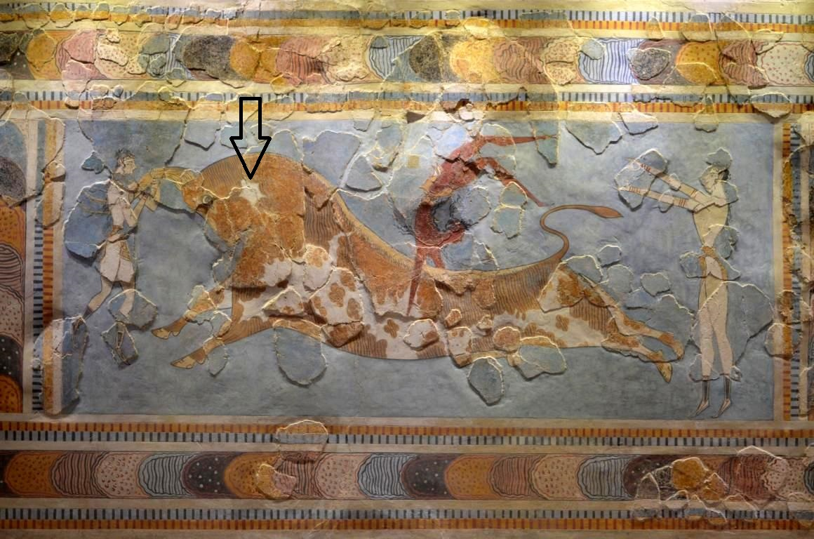 bull leaping fresco